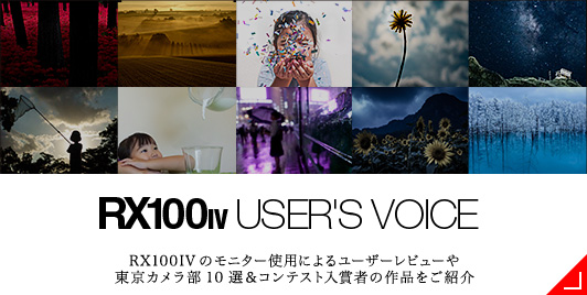 RX100IV USER'S VOICE